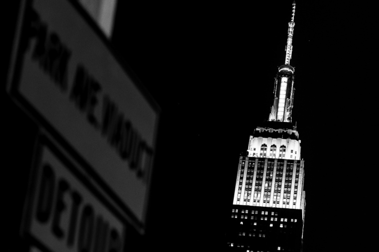 Nacht, New York, Empire State Building, Manhattan, Hochhaus, USA, Wolkenkratzer