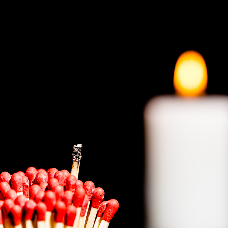 Streichholz, Streichhölzer, brennen, Kerze