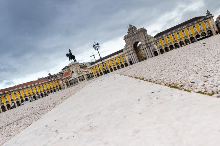 Praca do Comercio, Lissabon, Portugal, Urlaubsfoto, Architektur, Gebäude, Palast