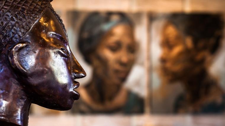 Afrika, Kunst, afrikanisch, Hotel, Foyer, Delaire Graff Estate, Südafrika