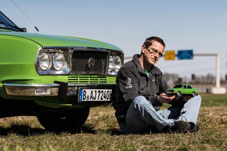 Skoda, Berlin, Mann, Auto, Modellauto, grün