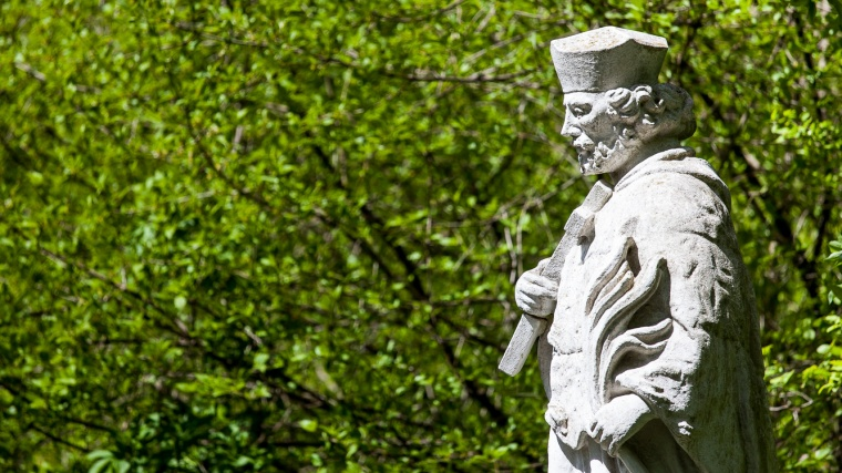 Wien, Statue, Heiliger, Nepomuk, Johannes von Nepomuk