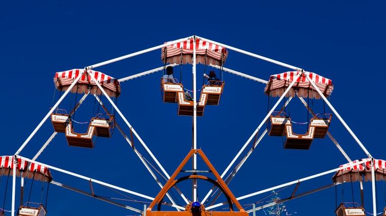 Riesenrad, Gondel, blau, Himmel, wolkenlos