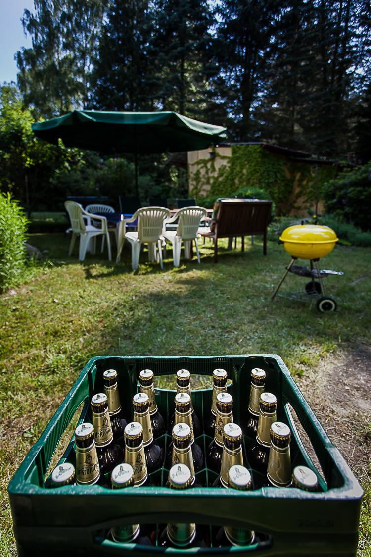 Bier, Bierkasten, Grill, Garten, Part, Gartenparty