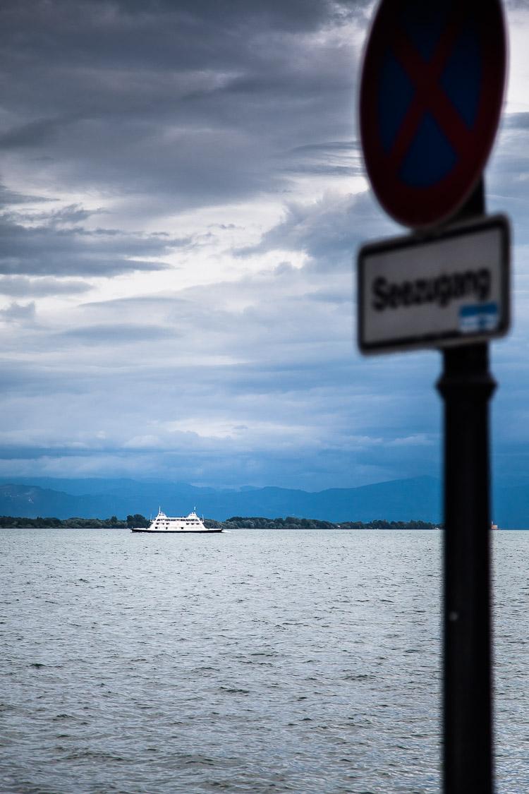 Bodensee, Schiff, Fähre, Schild, Verkehrsschild, See, Friedrichshafen