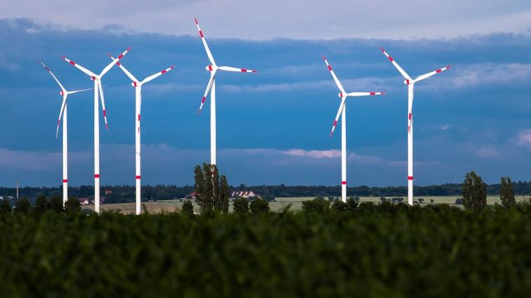 Windkraftwerk, Windrad, Weißenfels, Sachsen, Landschaft