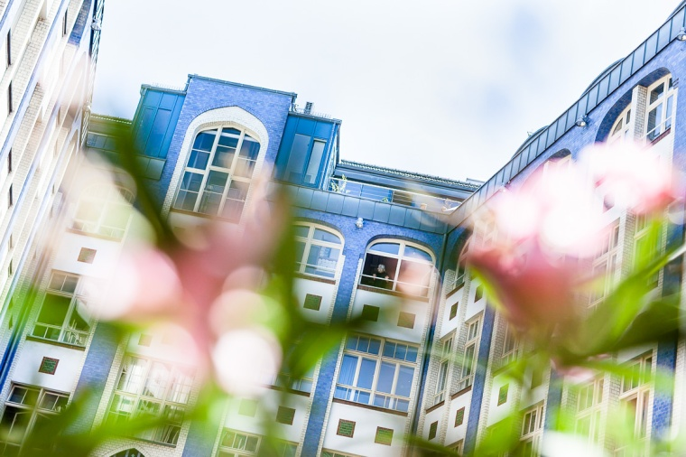 Hackesche Höfe, Berlin, Mitte, Hof, blau