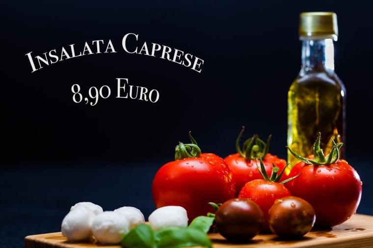 Tomate, Mozzarella, Öl, Basilikum, Insalata Caprese
