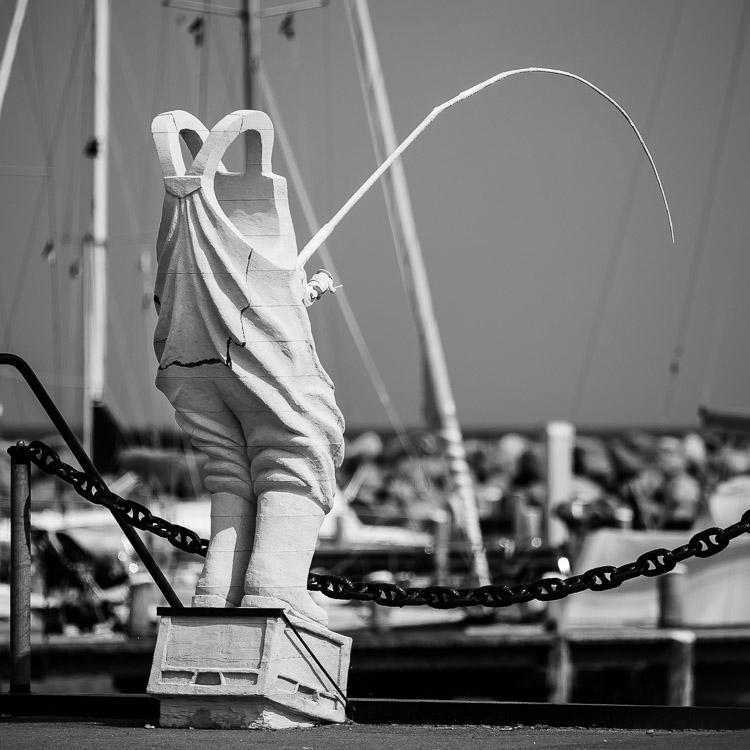 Skulptur, Kunstwerk, Dänemark, Yachthafen, Aeroe