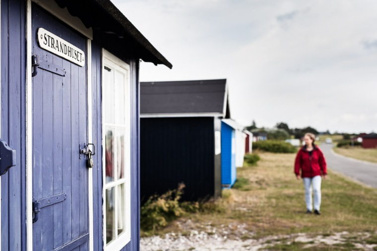 Strand, Hütte, Strandhütte, Aeroe, Insel, Aeroeskoebing, Dänemark