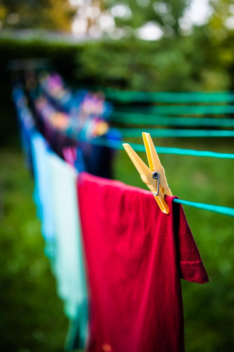 Wäscheleine, Wäsche, Leine, Klammer, Garten
