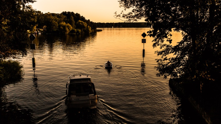 Krüpelsee, Abendlicht, Sonnenuntergang, Sommer, See, Brandenburg, Königs Wusterhausen