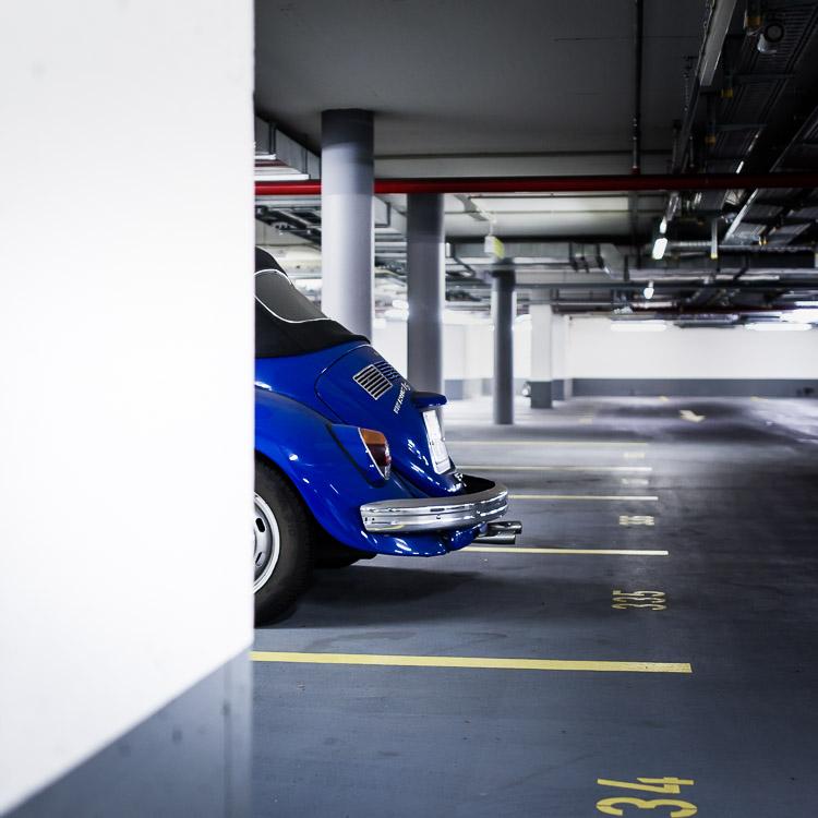 Tiefgarage, VW, Käfer, Cabrio