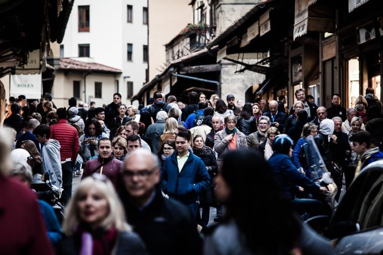 Ponte Vecchio, Florenz, Sehenswürdigkeit, Städtereise, Touristen