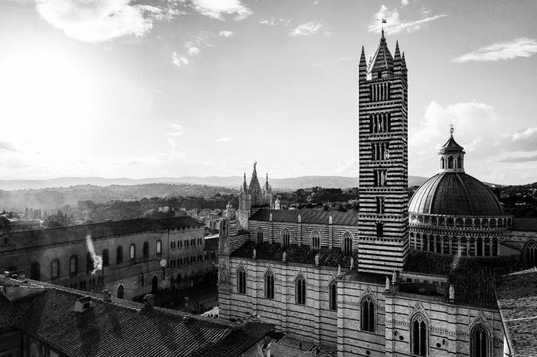 Siena, Toskana, Italien, Dom, Campanile
