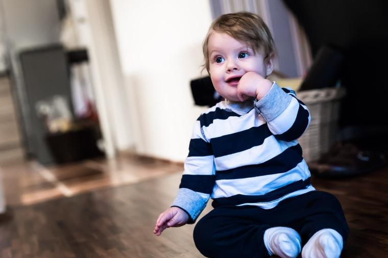 Kleinkind, Säugling, Junge, sitzen, Porträt