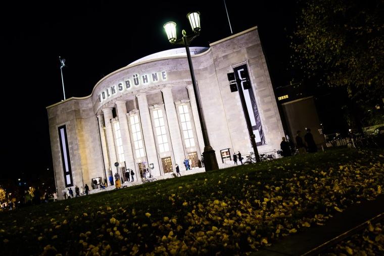 Volksbühne, Berlin, Theater, Nacht