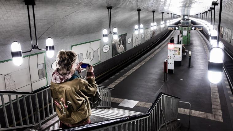 U-Bahn, Bahnhof, Märkisches Museum, Berlin, U2, Nacht