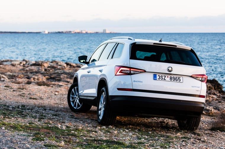 Skoda Kodiaq, SUV, Auto, Meer, Felsen, Mallorca