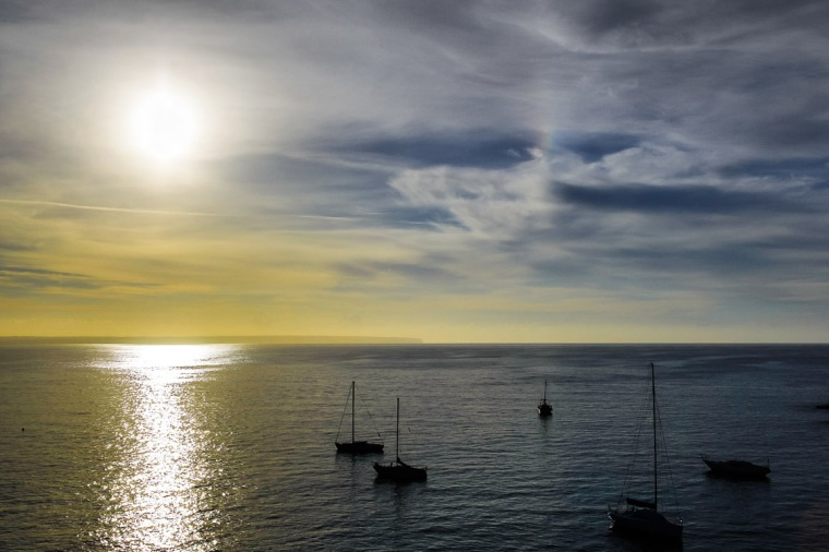 Sonne, Meer, Mallorca, Mittelmeer, Segelboot