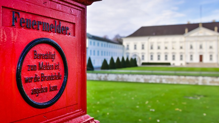 Schloss Bellevue, Berlin, Bundespräsident, Feuermelder, Amtssitz