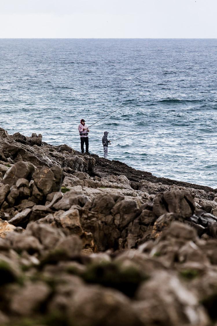 Angler, Atlantik, Meer, Steilküste, Felsen, Portugal, Cascais