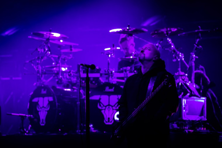 Licht, lila, Bühne, Rockmusik, Konzert, Soundcheck