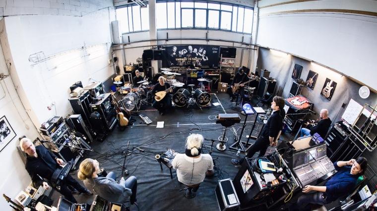 Die Rockband Subway to Sally bei Proben zu ihrer E-kustik-Tournee